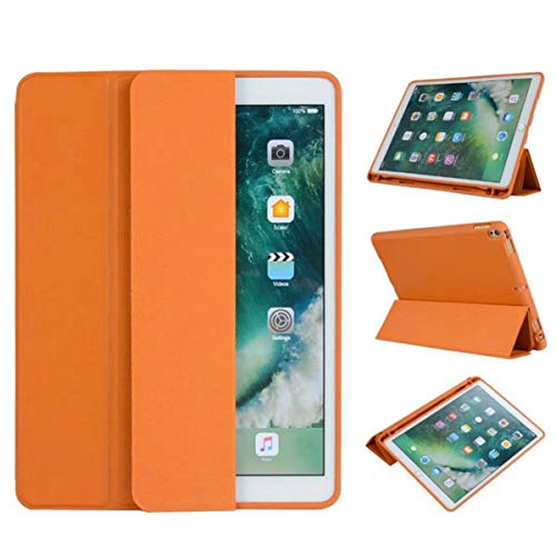 Ultra Slim Lightweight Protective Case for iPad Pro 10.5 Cover Pencil Holder for iPad air 3 10.5 2019 Stand Hold,Orange