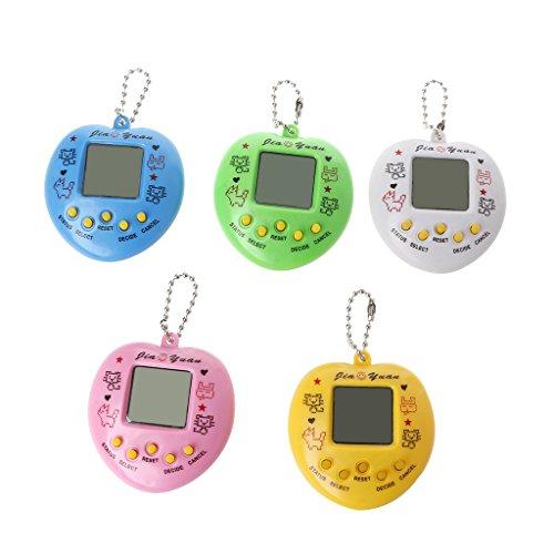 LCD-virtueller Digitaler Haustier-Handelektronische Spiel-Maschine Mit Keychain-Herz-Form