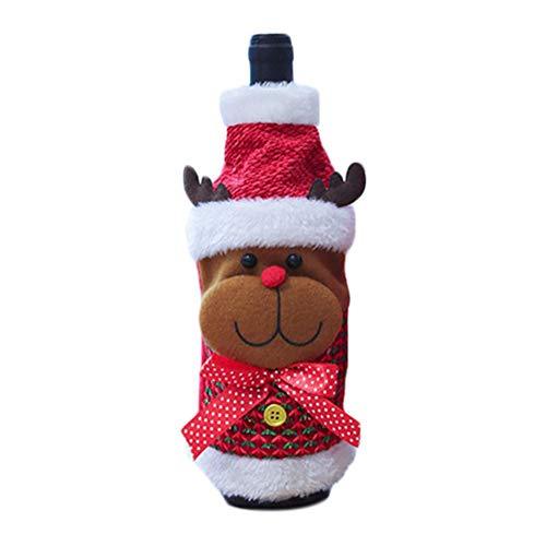 Fiaoen Bolsa de botella de vino de Navidad suéter botella de champán cubierta para fiesta botellas decoraciones Navidad moda