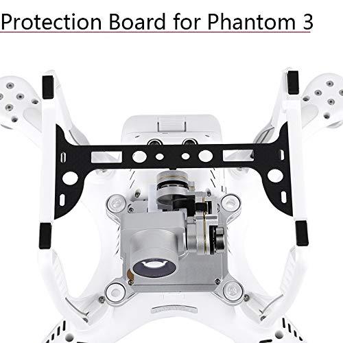 HUANRUOBAIHUO-HAT 1pc Kameraplatte Deckelhalter Carbon Fiber Protection Board Gimbal-Schutz-Schutz for DJI Phantom 3 Ersatzteile Zubehör Quadrocopter Zubehör (Bundle : for Professional Edition SE)
