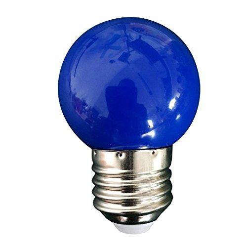 hunpta Ampoule LED E27 à économie d'énergie - Décoration de fête - Bleu