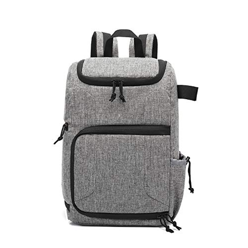 DUNRU Camera Case Waterproof Camera Bag Photo Cameras Backpack For Laptop DSLR Portable Travel Tripod Lens Pouch Video Bag Camera Bags (Color : Grey)
