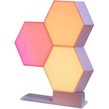 Yescom WiFi Smart LED Light Kit Splicing 3 Blocks&Base 16 Million Color Work Cololight with Alexa Google Home Decor