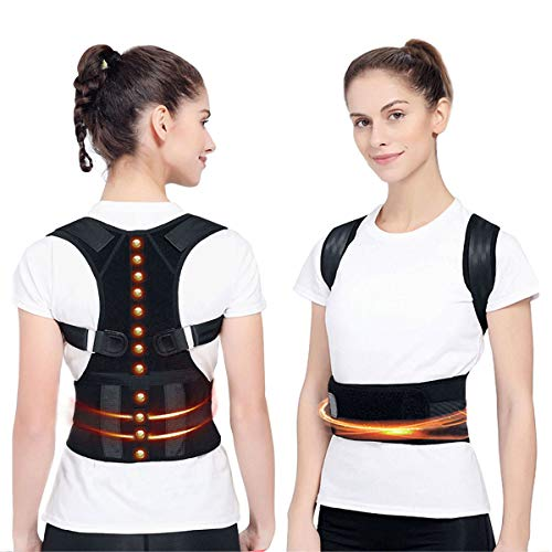 Magnetic Therapy Posture Corrector Back Brace, Comfortable Magnetic Humpback Posture Support for Back Neck Shoulder Lower and Upper Back Pain Relief Corrective Posture Brace Support Belt