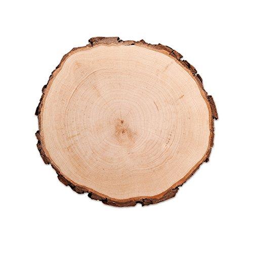 Casa Vivente Baumscheibe mit Rinde, Unbehandeltes Holz, Dekoration, Bastelbedarf, Türschild oder Wandschild, Shabby Chic, Geburtstagsgeschenk