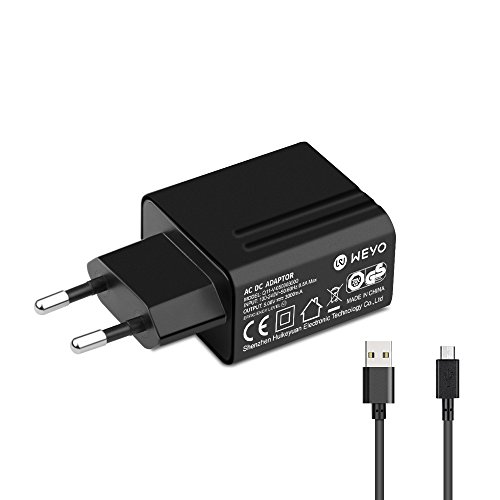 5V - 5,25V 3A Micro USB Netzteil Ladekabel Ladegerät AC Adapter für Raspberry Pi 3, Pi 2 A und B/Banana Pi/Pi B+ (B Plus), Bose, JBL, Philips, Smartphones, HP, Huawei, Samsung Android Tablets