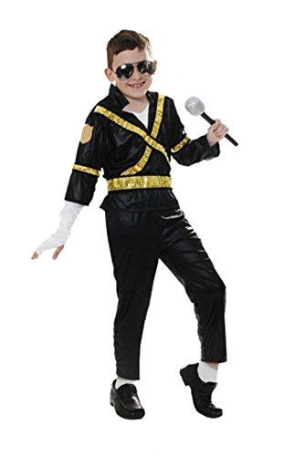 Los niños King of Pop Michael Jackson Cantante disfraz edad 4 – 14 ...