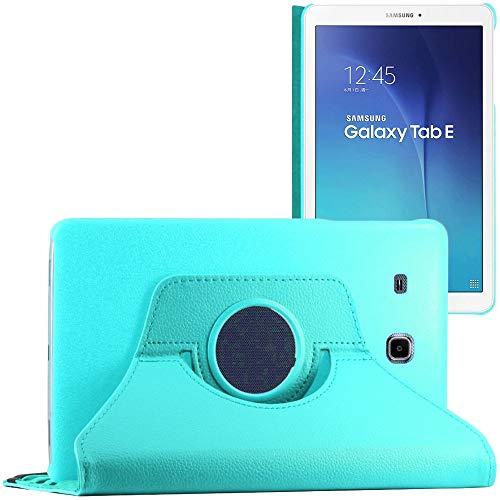 ebestStar - Cover Compatibile con Samsung Galaxy Tab E 9.6 T560, T561 Custodia Protezione Pelle PU con Supporto Rotazione 360, Blu [Apparecchio: 241.9 x 149.5 x 8.5mm, 9.6'']