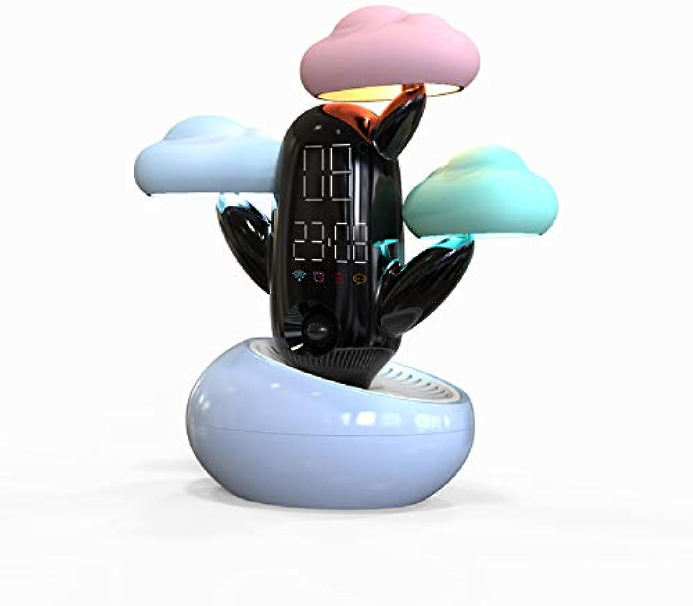 GXY kreatives Geschenk beleuchtet neue seltsame Wolke Nachttischlampe intelligente Wecker Tischlampe Wettervorhersage Induktion kreativ, blau B07P8Q2NQ6 | Speichern