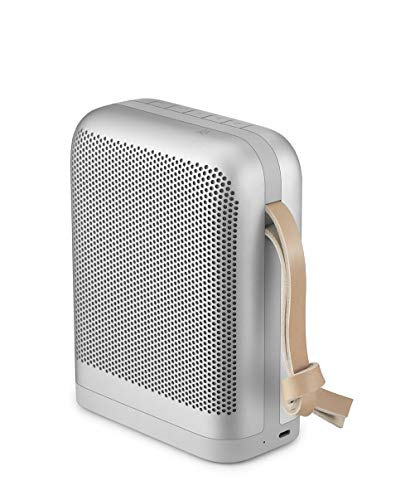 Bang & Olufsen Beoplay P6 Portable Bluetooth Speaker with Microphone, Natural