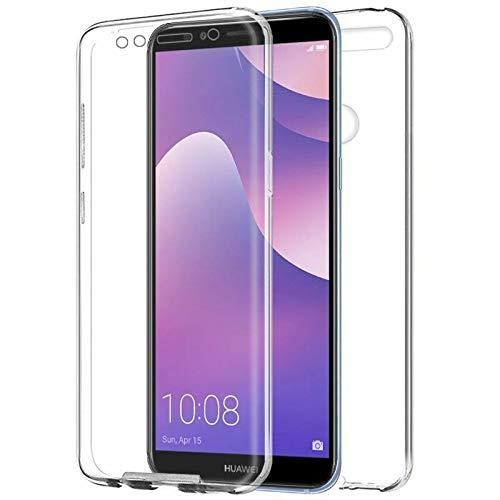 TBOC Funda para Huawei Y7 Prime 2018 - Honor 7C - Carcasa [Transparente] Completa [Silicona TPU] Doble Cara [360 Grados] Protección Integral Total Delantera Trasera Lateral Móvil Resistente Golpes