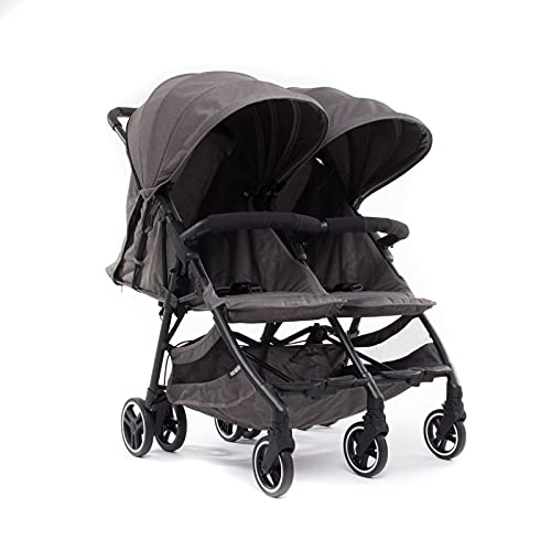 Baby Monsters Silla de paseo gemelar + capotas Kuki Twin (Texas) - La silla gemelar más ligera y compacta del mercado