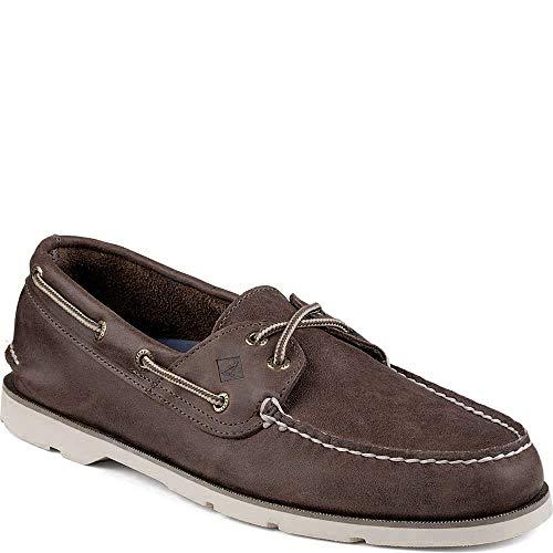 Sperry Men's, Leeward X Lace Boat Shoe Dark Brown 9 M