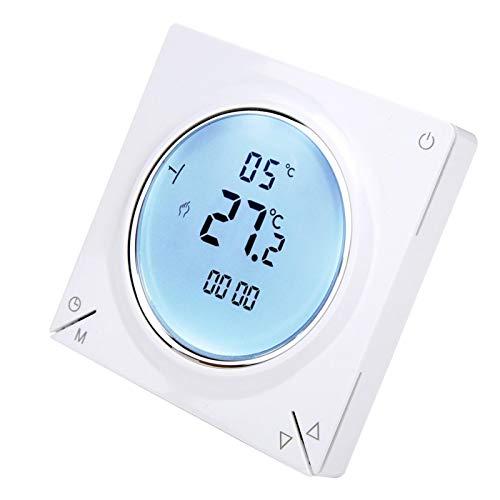 Controlador de Temperatura Digital de Alta precisión, termostato de calefacción LCD, eléctrico programable para el hogar, para Interiores, para Salas de conferencias