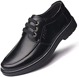 FYKHhcF Men's lace-up Business Genuine Leather Shoes Casual Fashion Breathable Lining Shoes