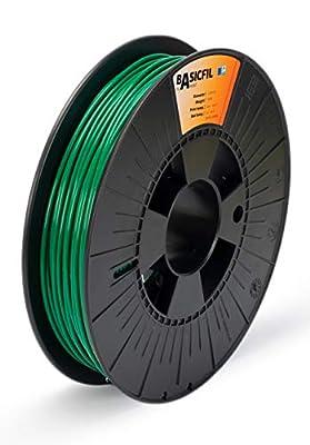 BASICFIL PLA 2.85mm, 500 gr, 3D printing filament , Black