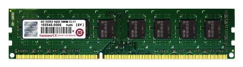 Transcend TS1GLK64V6H - Memoria RAM DDR3 de 8 GB, 1600 MHz