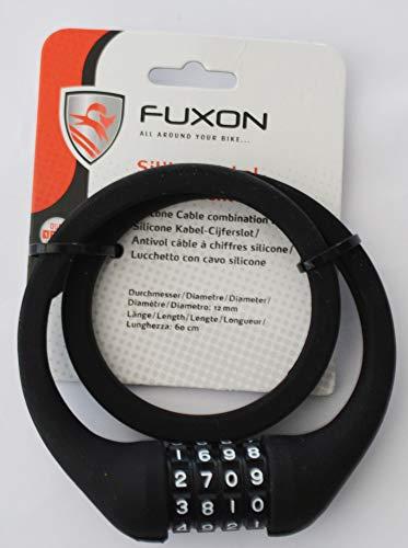 Fuxon Silikon-Zahlen-Kabelschloss Kabelschloss 12x650mm,