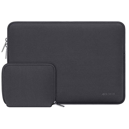 MOSISO Laptop Sleeve Compatible with MacBook Air 13 inch M1 A2337 A2179 A1932/MacBook Pro A2338 M1 A2251 A2289 A2159 A1989 A1706 A1708, Water Repellent Neoprene Bag with Small Case, Space Gray
