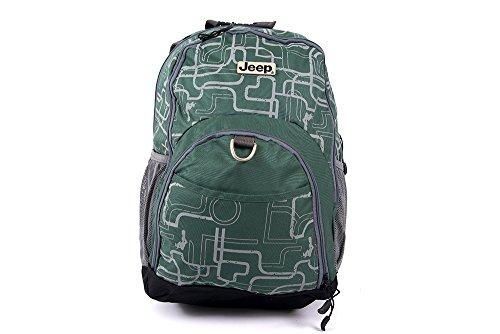 Green Jeep Backpack Shoulder School Bag