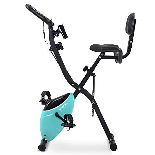 WGYDREAM Bicicleta Estática Reclinable Ejercicio Bike Home X-Bike con Altura De Asiento Ajustable Y Monitor LCD Capacitación De La Computadora Y Las Bandas De Expansión para La Oficina En Casa