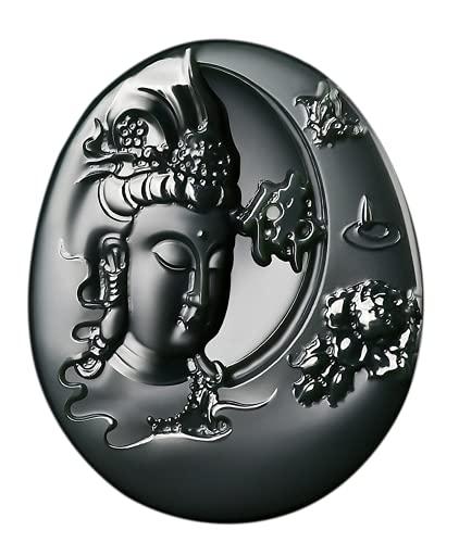 China Natural Hetian Jade Nefrita tallada Kwan Yin Diosa colgante amuleto (Kwan Yin Diosa mariposa)