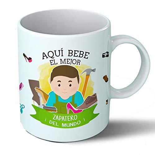 Planetacase Taza Desayuno Aquí Bebe el Mejor Zapatero del Mundo Regalo para...