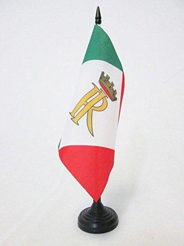 AZ FLAG Bandiera da Tavolo Presidente EMERITO della Repubblica Italiana 15x15cm - Piccola BANDIERINA STENDARDO Italia 15 x 15 cm
