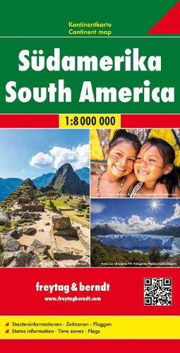 Südamerika, Kontinentkarte 1:8 Mio. (freytag & berndt Auto + Freizeitkarten)