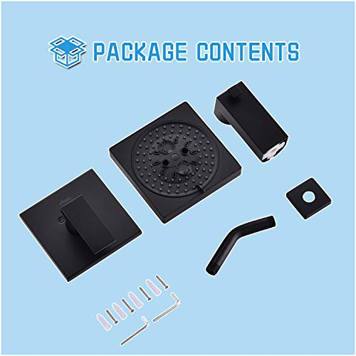 APPASO Shower Faucet and Tub Spout Set (Valve Included) Matte Black, Shower system with 7-Function Spray Head, Single Handle Bathroom Shower Rain Mixer Mounted Rainfall Shower Combo Set, APT137MB