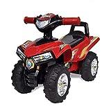 Ride , Kid Drive Car Rosso Bambini Quad Ride-on con suono e luce