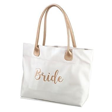 Lillian Rose Gold Bride Tote Bag