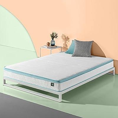 Zinus 8 Inch Mint Green Memory Foam Hybrid Spring Mattress, Queen
