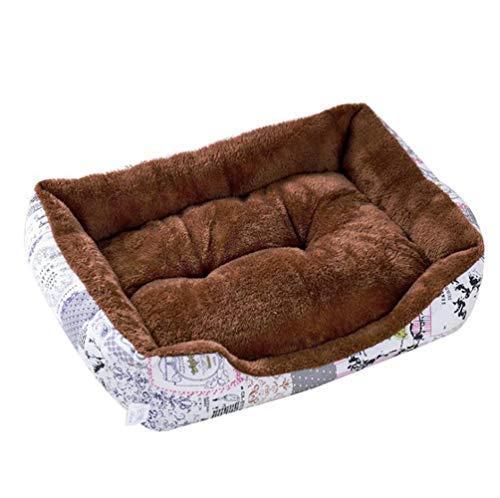 Haobing Rectángulo Sofá para Mascotas Lavable Fleece Amovi
