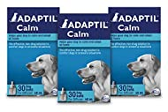 ADAPTIL Calm 30 Day Refill x 3, Helps Dog Cope with Behavioural Issues and Life Challenges 48ml x 3