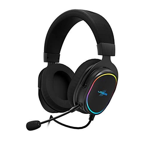 """uRage Gaming-Headset """"SoundZ 800.7.1"""",schwarz, 7.1 Virtual Surround Sound, abnehmbares Mikrofon, kabelgebunden mit Volume-& Mute-Control, USB-Anschluss, 2 m Mesh Cable, gepolsterte Ohrmuschel, 415 g"""