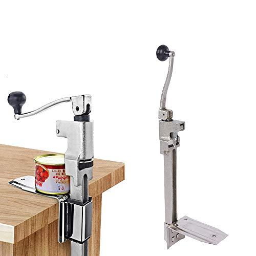 Apriscatole Manuale Commerciale Rotante Apriscatole in Acciaio Fuso Apriscatole da Banco per Cucina Ristorante Casa