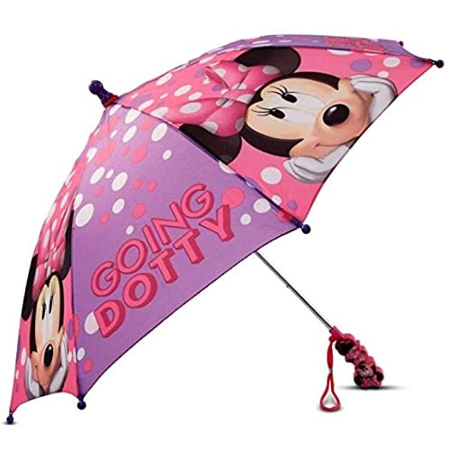 Minnie Mouse Pink and Purple Going Dotty Girls Umbrella