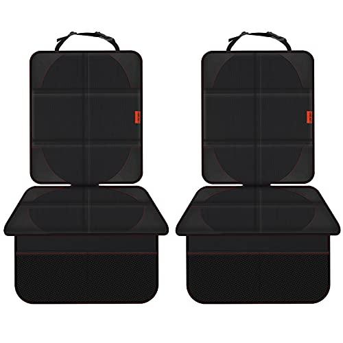 VANLONTD Protector de asiento de coche, protector de asiento trasero de coche de bebé protege la tapicería de manchas y daños, negro