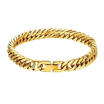 ChainsPro Men Gold Bracelet Bike Chain Bracelets pulseras de Hombre Rap Wrist Chain Male Metal Stainless Link Bracelets