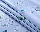 AIJIA Wachstuch Tischdecke Wachstischdecke Blau Plastik PVC Party Tischdecken Wasserabweisend Abwischbare Lotuseffekt für Schutzfolie(Quadratisch Vogel) 137 * 137CM - 4