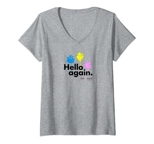 Mujer La palabra L: Generación Q Hola de nuevo palmeras Camiseta Cuello V
