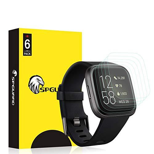 【6 PACK】VICARA for Fitbit Versa 2 保護フィルム 水貼り 非ガラス フィルム 指紋 気泡防止 高透過率 for...