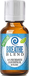 Breathe Essential Oil Blend - 100% Pure Therapeutic Grade Breathe Blend Oil - 30ml