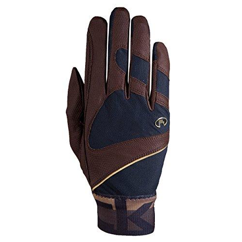 Roeckl Sports Handschuh -Milton, Unisex Reithandschuhe, Bund dehnbar, Mokka Größe 6