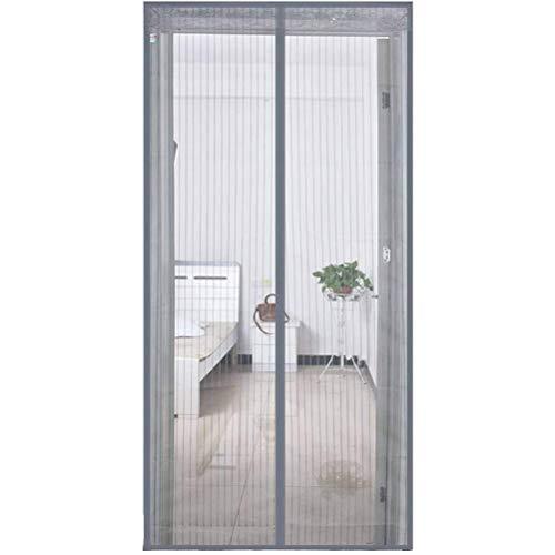 QYDF Anti-Mücken und Insekten Zelt Porta Schlafzimmer Balkon Küche Zimmer Stille Magnetischer Velcro Magnetic Curtain Fliegen Insektenvernichter für Türen,C,80x205cm