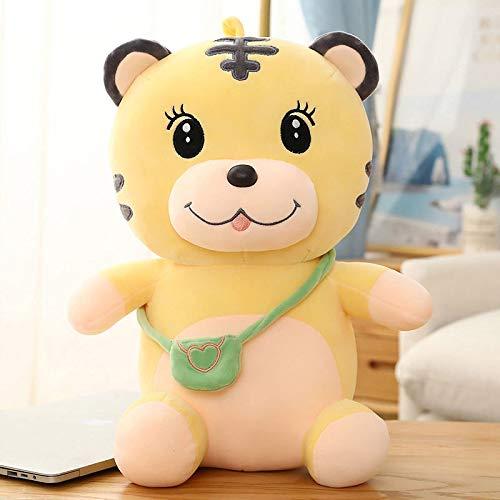 Lindo y hermoso Linda mochila tigre muñeca peluche de peluche almohada, súper suave muñeca en la cama para niñas, regalos de cumpleaños Mochila Tigre 30 cm ( Color : Backpack Tiger , Size : 40cm )