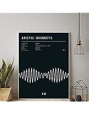 Svarta affischer och tryck Arctic Monkeys AM album Musik Typografi Poster Wall Art Pictures Canvas målning för rum Heminredning 40x60cmx1 Ingen ram