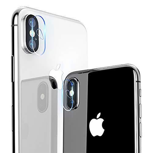 【2枚セット】iPhone X カメラガラスフィルム memumi® 強化ガラス iPhone X/XS/XS Max 対応 レンズ液晶保護ガラスフィルム 超薄型/高透過率/飛散防止/自動吸着-iPhoneX/Xs/Xs Max用, 2枚セット