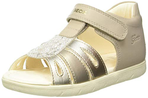 Geox B Sandal ALUL Girl B, Bimba 0-24, Beige/Platinum, 20 EU